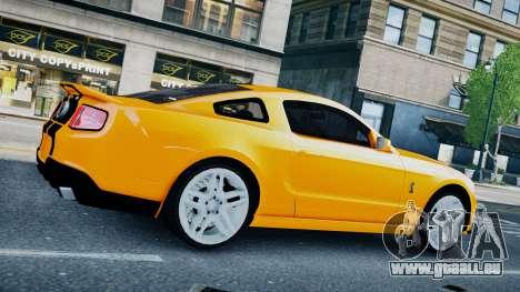 Ford Shelby Mustang GT500 2011 v1.0 pour GTA 4 Vue arrière de la gauche
