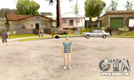 Varios Los Aztecas Gang Skin pack für GTA San Andreas dritten Screenshot