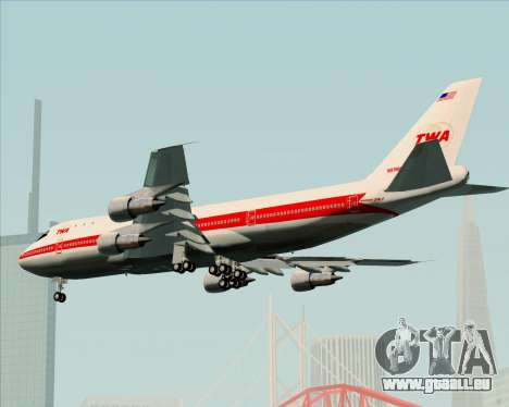 Boeing 747-100 Trans World Airlines (TWA) für GTA San Andreas Seitenansicht
