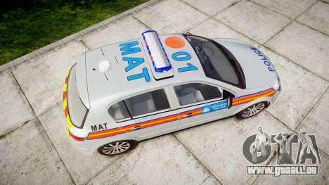 Vauxhall Astra 2010 Metropolitan Police [ELS] für GTA 4 rechte Ansicht