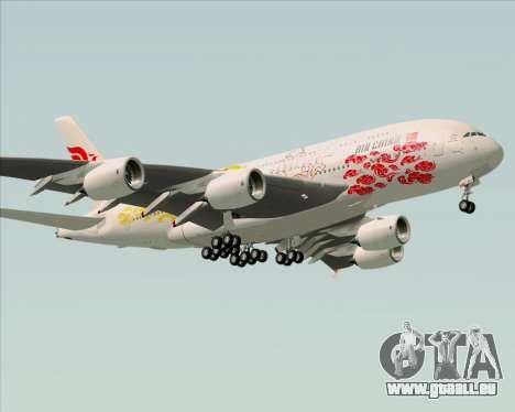 Airbus A380-800 Air China für GTA San Andreas zurück linke Ansicht