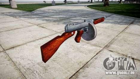 Pistolet mitrailleur Thompson M1A1 tambour icon1 pour GTA 4 secondes d'écran