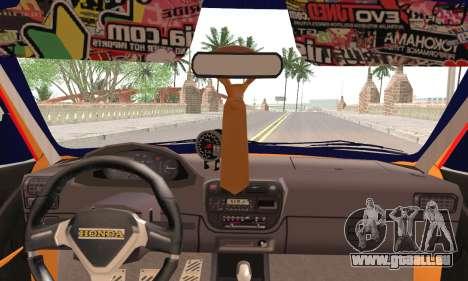 Honda Civic Fake Taxi pour GTA San Andreas sur la vue arrière gauche