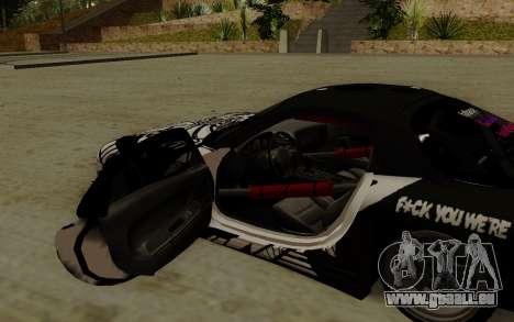 Mazda RX-7 Fail Crew für GTA San Andreas rechten Ansicht