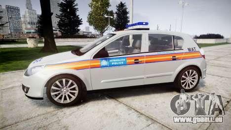Vauxhall Astra 2010 Metropolitan Police [ELS] pour GTA 4 est une gauche
