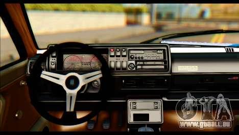 Volkswagen Golf 2 pour GTA San Andreas sur la vue arrière gauche