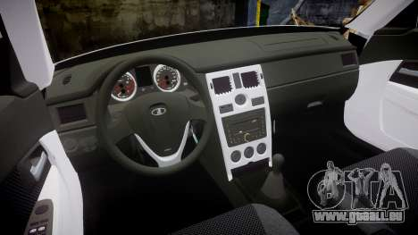 ВАЗ-2170 Installé Avant Vossen pour GTA 4 est une vue de l'intérieur
