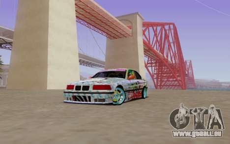 BMW E36 Bridgstone pour GTA San Andreas laissé vue