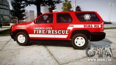 Chevrolet Tahoe Fire Chief [ELS] für GTA 4 linke Ansicht