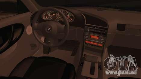 BMW M3 E36 Cabrio 34 DAT 29 pour GTA San Andreas sur la vue arrière gauche