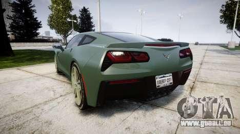 Chevrolet Corvette C7 Stingray 2014 v2.0 TirePi2 für GTA 4 hinten links Ansicht