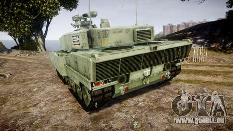 Leopard 2A7 GR Green pour GTA 4 Vue arrière de la gauche