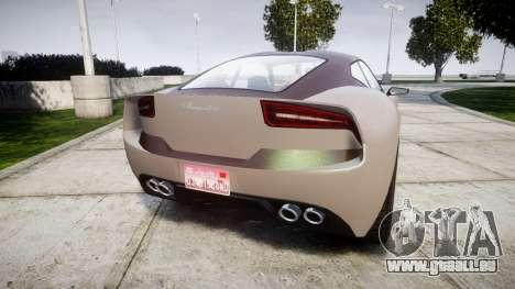 GTA V Lampadati Furore GT pour GTA 4 Vue arrière de la gauche