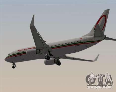 Boeing 737-8B6 Royal Air Maroc (RAM) für GTA San Andreas Rückansicht