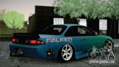 Nissan Silvia S14 Falken pour GTA San Andreas laissé vue