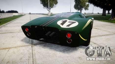 Ford GT40 Mark IV 1967 PJ 17 für GTA 4 hinten links Ansicht