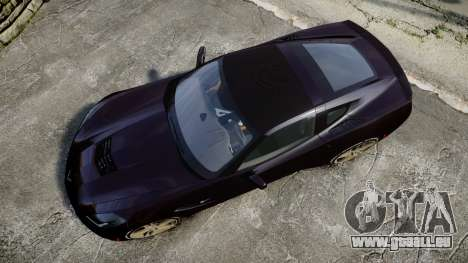 Chevrolet Corvette C7 Stingray 2014 v2.0 TireYA2 pour GTA 4 est un droit