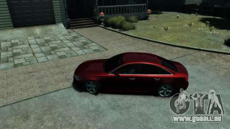 Audi A6 2012 pour GTA 4 est une vue de l'intérieur