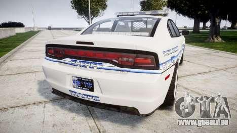 Dodge Charger RT [ELS] Liberty County Sheriff pour GTA 4 Vue arrière de la gauche