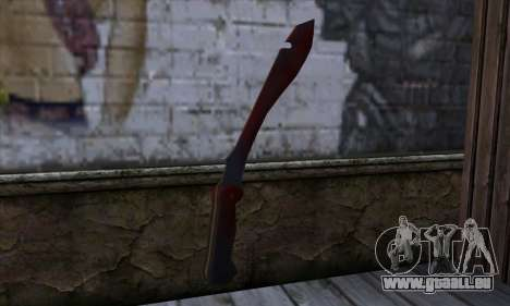 Bloody Machete from Far Cry für GTA San Andreas zweiten Screenshot