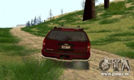 Chevrolet Tahoe Final für GTA San Andreas zurück linke Ansicht