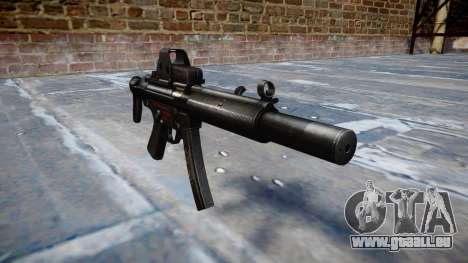Pistolet MP5SD EOTHS CS b cible pour GTA 4