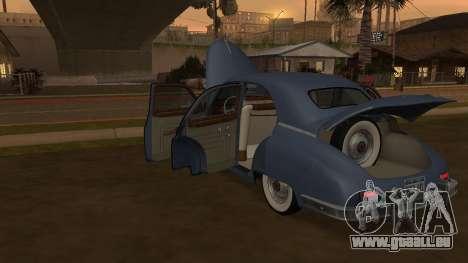 Packard Touring  Sedan pour GTA San Andreas vue de droite