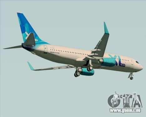 Boeing 737-800 XL Airways für GTA San Andreas Rückansicht
