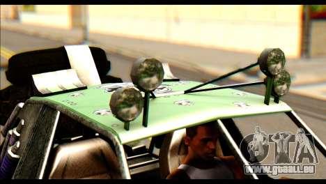 Buggy Fireball from Fireburst pour GTA San Andreas sur la vue arrière gauche