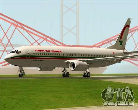 Boeing 737-8B6 Royal Air Maroc (RAM) für GTA San Andreas rechten Ansicht