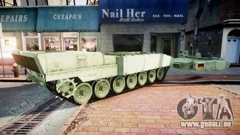Leopard 2A7 DE Green für GTA 4 Rückansicht