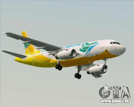 Airbus A319-100 Cebu Pacific Air für GTA San Andreas linke Ansicht