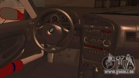 BMW E36 Coupe Bridgestone pour GTA San Andreas sur la vue arrière gauche