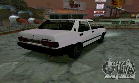 Tofas Sahin Taxi pour GTA San Andreas sur la vue arrière gauche
