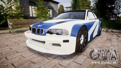BMW M3 E46 GTR Most Wanted plate NFS Carbon pour GTA 4