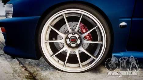 Subaru Impreza 22B Street pour GTA 4 Vue arrière