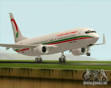 Boeing 737-8B6 Royal Air Maroc (RAM) für GTA San Andreas Unteransicht