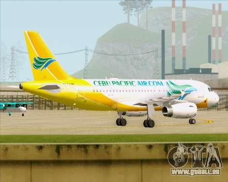 Airbus A319-100 Cebu Pacific Air für GTA San Andreas Innenansicht
