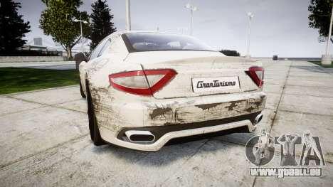Maserati GranTurismo S 2010 PJ 4 pour GTA 4 Vue arrière de la gauche