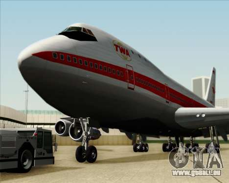 Boeing 747-100 Trans World Airlines (TWA) für GTA San Andreas Unteransicht
