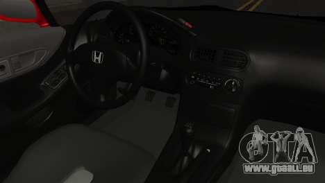 Honda CRX pour GTA San Andreas vue de droite