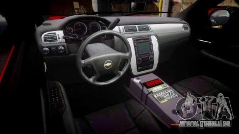 Chevrolet Tahoe Fire Chief [ELS] pour GTA 4 Vue arrière