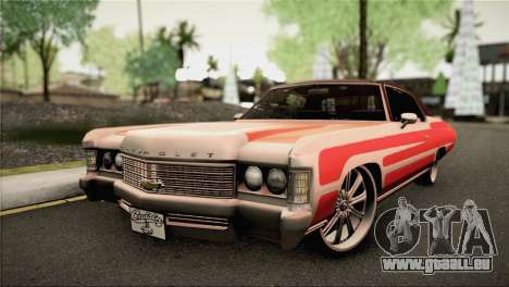 Chevrolet Impala Lowrider pour GTA San Andreas