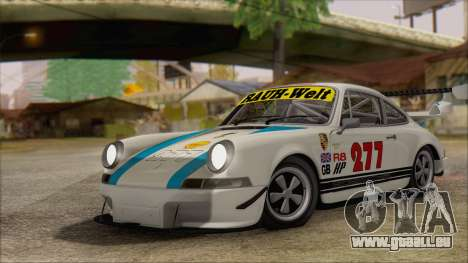Porsche 911 Carrera 1973 Tunable KIT C für GTA San Andreas Innenansicht