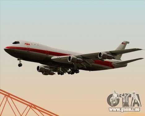 Boeing 747-100 Trans World Airlines (TWA) für GTA San Andreas Innenansicht