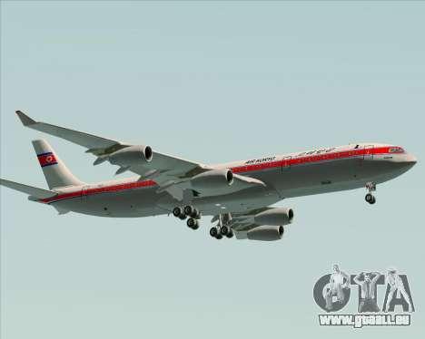 Airbus A340-300 Air Koryo pour GTA San Andreas laissé vue