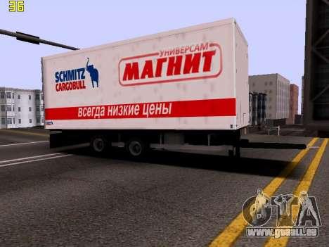 Remorque Magnit pour GTA San Andreas vue de droite