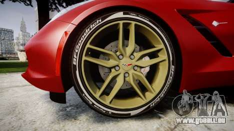 Chevrolet Corvette C7 Stingray 2014 v2.0 TireBFG für GTA 4 Rückansicht