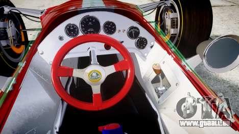 Lotus 49 1967 red pour GTA 4 Vue arrière