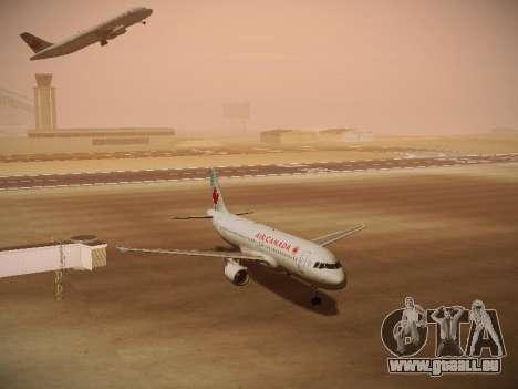 Airbus A320-214 Air Canada pour GTA San Andreas laissé vue